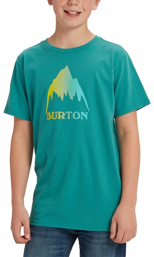 Burton Kid's Classic Mountain High Short Sleeve T Shirt, M Green Blue