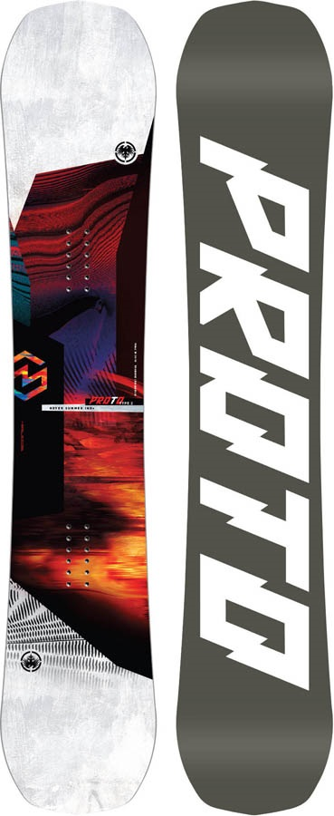 Never Summer Proto Type Two Rocker Camber Snowboard, 160cm 2020
