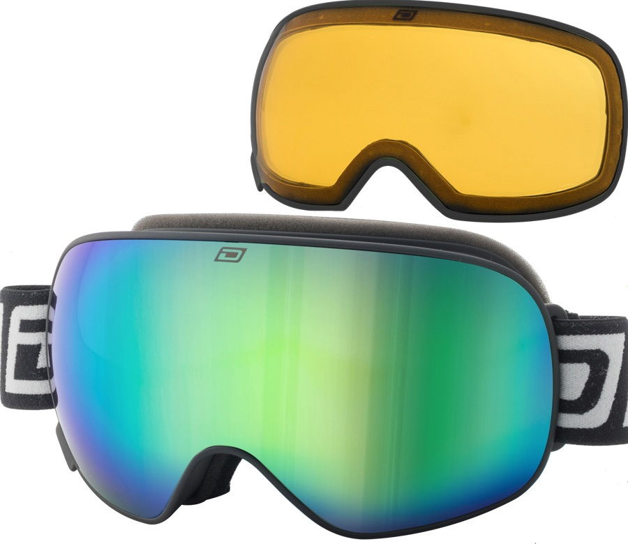 Dirty Dog Mutant 2.0 Green Fusion Ski/Snowboard Goggles, L Black