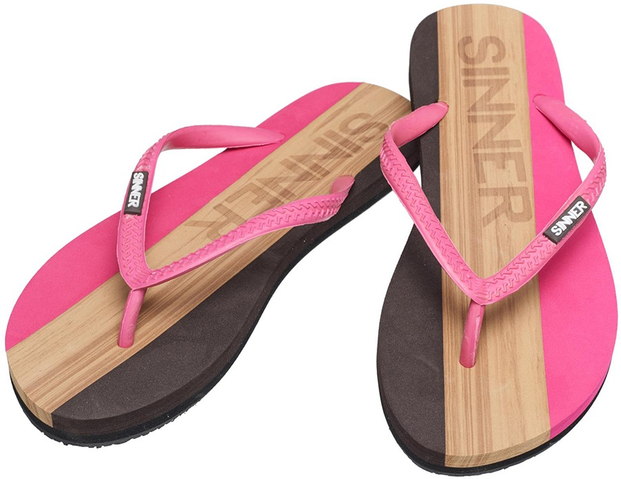 Sinner Capitola Women's Flip Flops, UK 6 / EU 39 Dark Pink/Brown