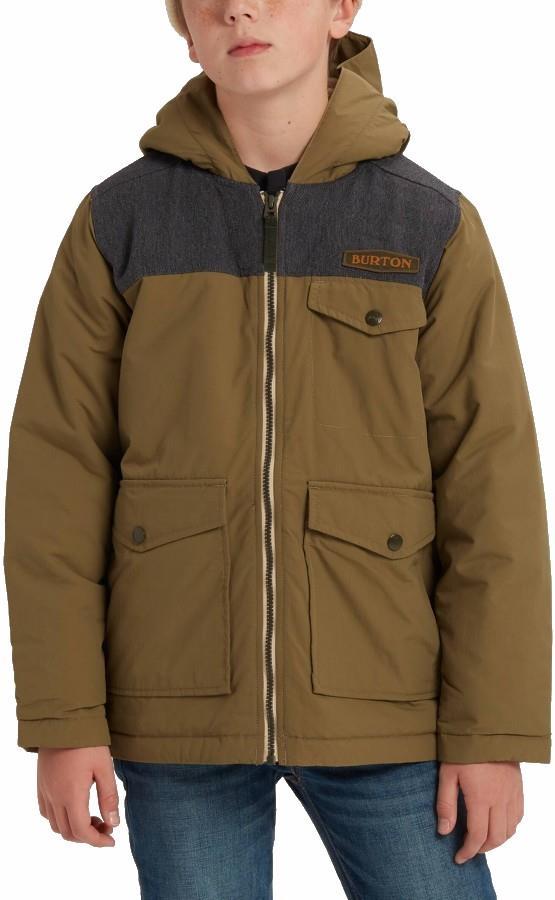 Burton Boys Castable Snowboard/Ski Jacket, M Martini Olive