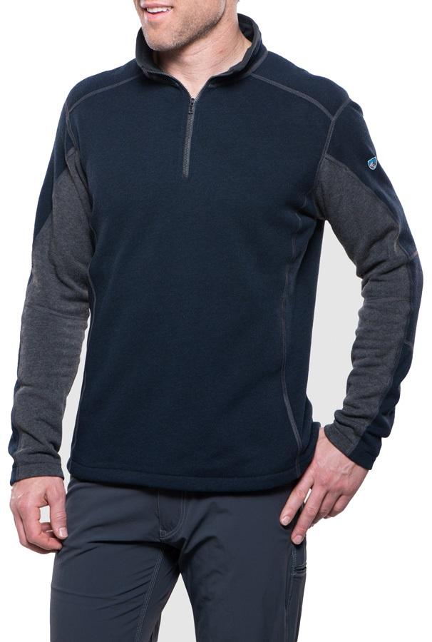 Kuhl Revel Regular 1/4 Zip Fleece, S Mutiny Blue/Steel