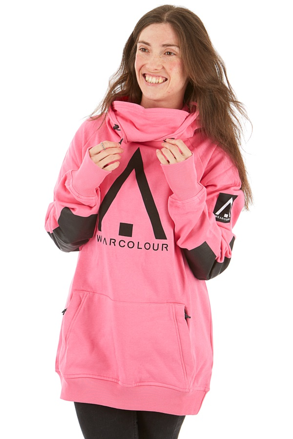 Wearcolour Bowl Unisex Ski/Snowboard Hoodie, XS Post-It Pink
