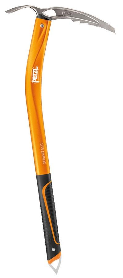 Petzl Summit Evo Classic Mountaineering Ice Axe, 52cm Orange Adze