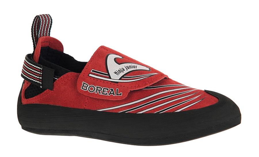 Boreal Ninja Junior Kid's Rock Climbing Shoe UK 11-11.5 | EU 29-30 Red