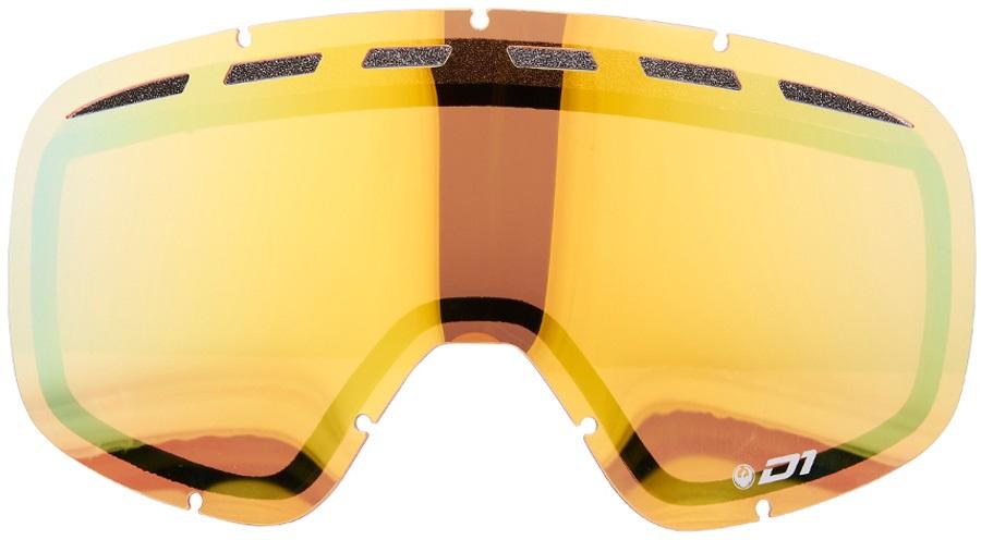 Dragon D1 Snowboard/Ski Goggle Spare Lens Gold Ionized