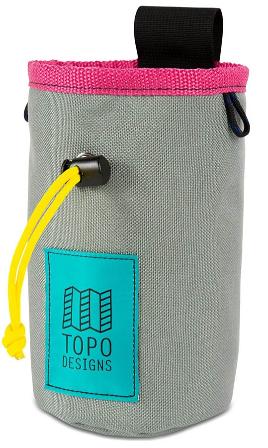 Topo Designs Hipster Rock Climbing Chalk Bag, One Size Silver/Pink