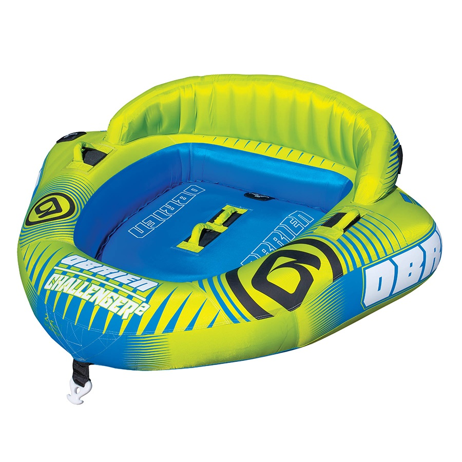 O'Brien Challenger Seated Towable Inflatable Tube, 2 Rider Yellow 2021