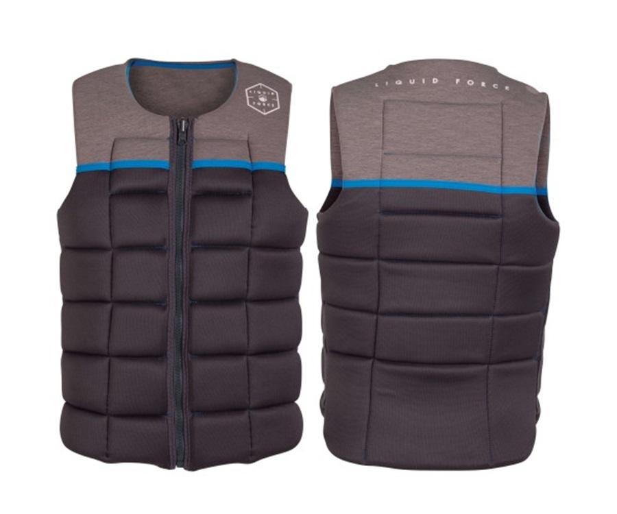Liquid Force Flex Wakeboard Impact Vest, XS Grey Blue 2021