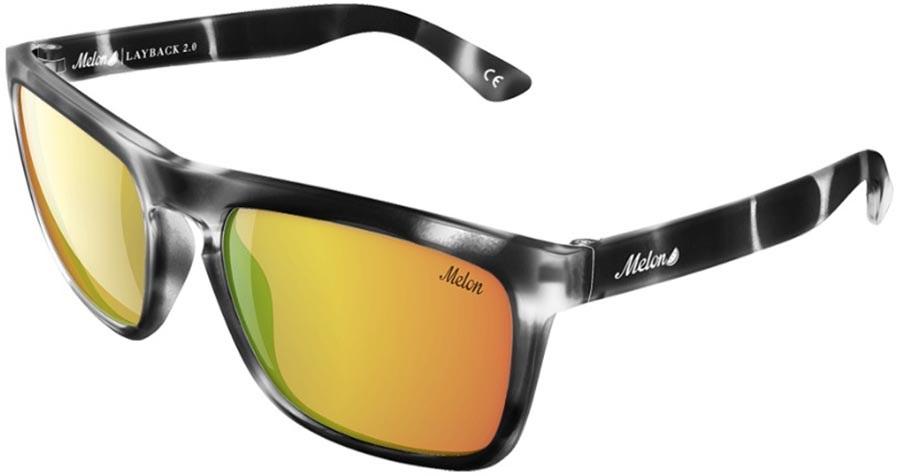 Melon Layback 2.0 Smoke Polarized Sunglasses, Venom