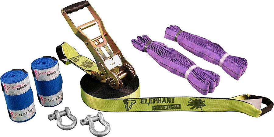 Elephant Slacklines Freak Flash'line Slackline Full Set, 15m Neon