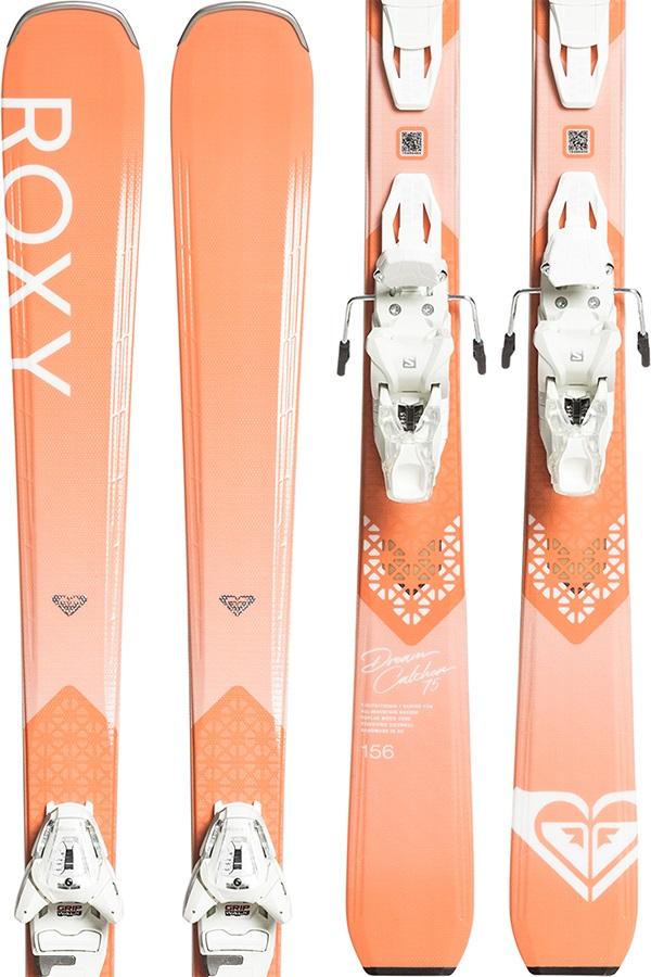 Roxy Womens Dreamcatcher 75 Women's Skis 170cm, Peach/White, L 10 Plate, 2020