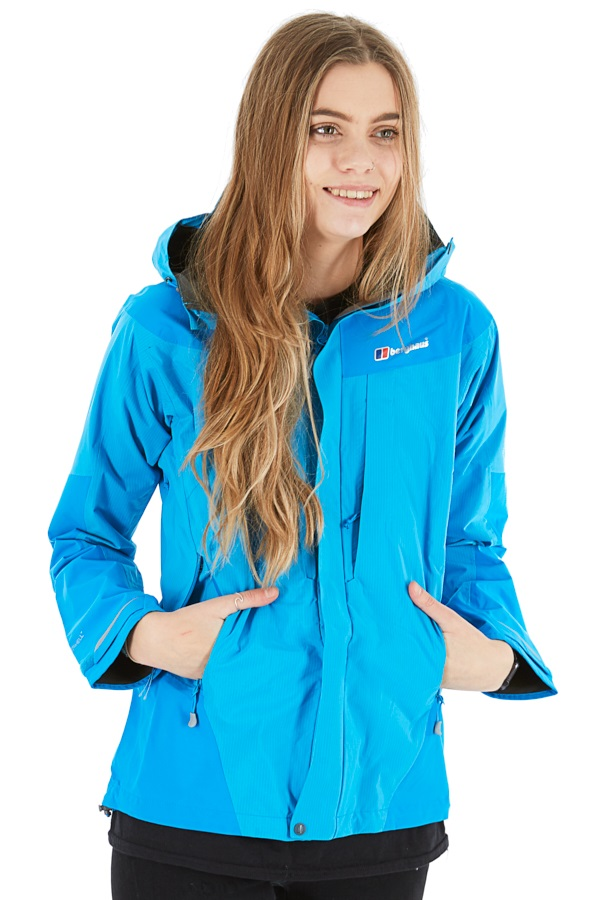 Berghaus Light Trek Hydroshell Women's Waterproof Jacket UK 10 Splash