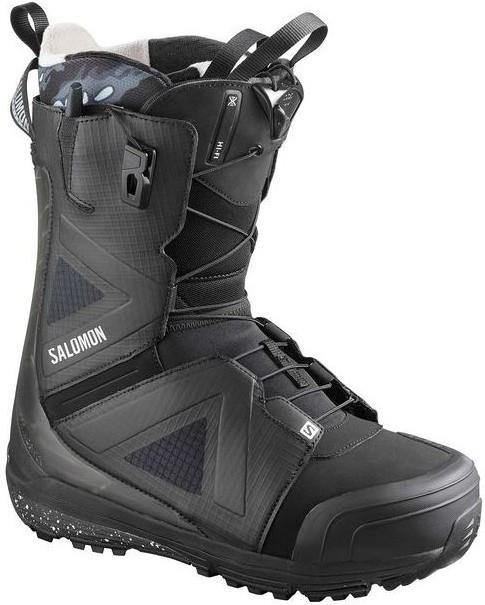 Salomon Hi Fi Mens Snowboard Boot, UK 9.5 Black/Castlerock 2020