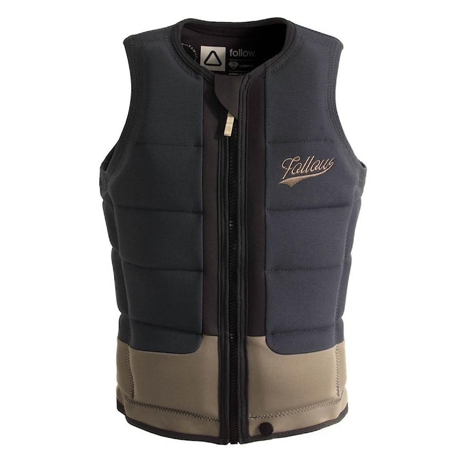 Follow Stow Ladies' Wakeboard Impact Vest, L Steel Khaky