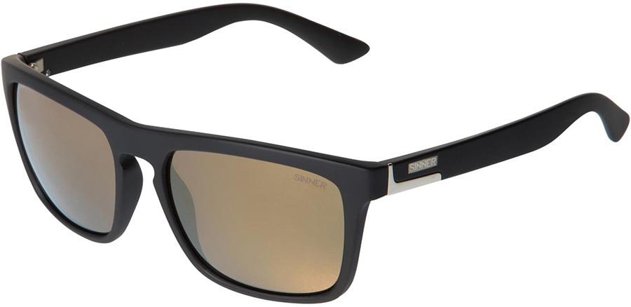 Sinner Thunder Winter/Summer Gold Mirror Wayfarer Sunglasses, Black