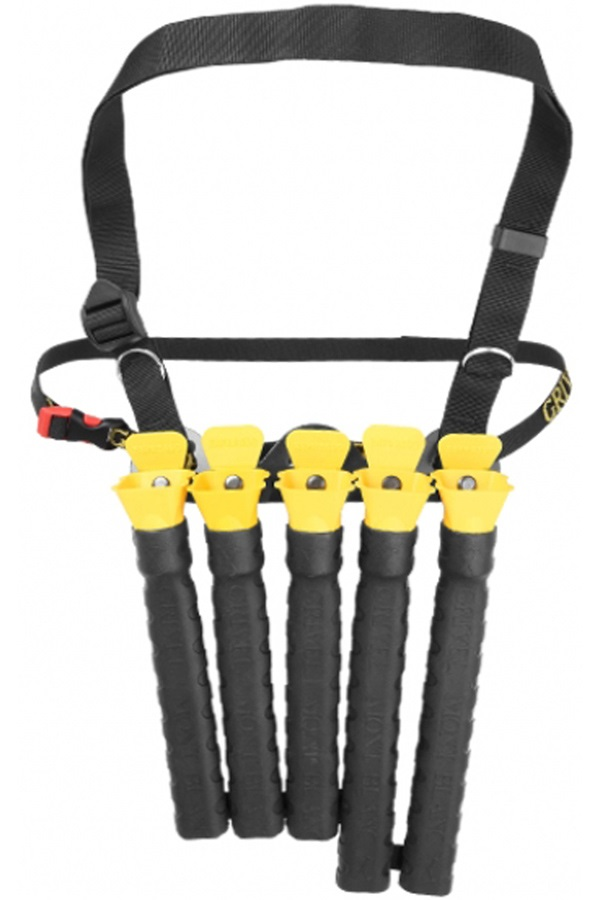 Grivel Pan Pipe Ice Screw Organiser, One Size, Black/Yellow
