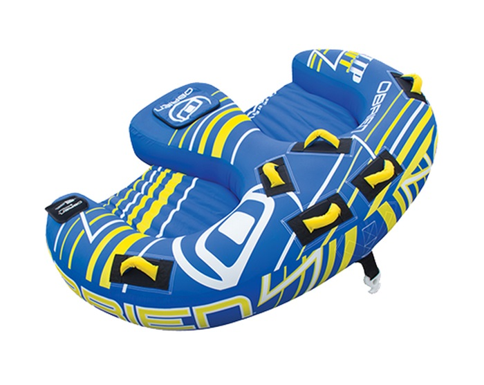 O'Brien Flip Out Extreme Towable Inflatable Tube, 2 Rider Blue
