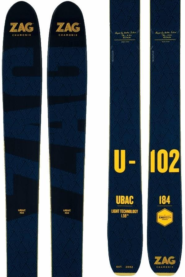 ZAG Ubac 102 Ski Only Skis Only, 184cm Blue/Yellow