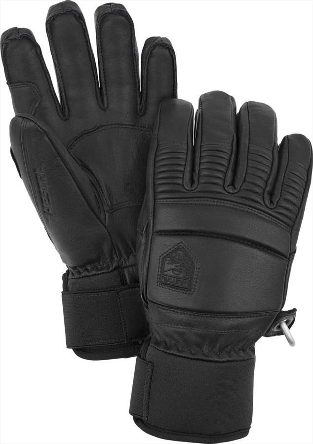 Hestra Leather Fall Line Ski/Snowboard Gloves, L, Black