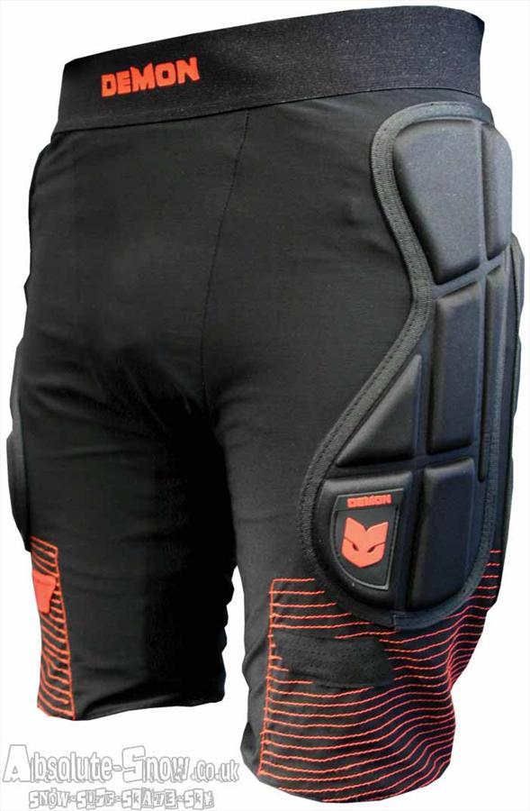 Demon Flex Force Pro Ski/Snowboard Impact Shorts S Black/Red
