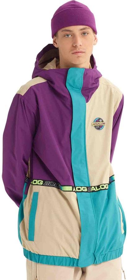 Analog Blast Cap Ski/Snowboard Jacket, XL Safari/Green-Blue/Charisma