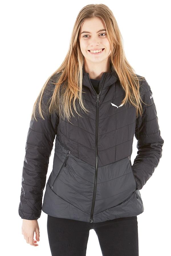 Salewa Fanes Tirol Wool Celliant Womens Insulated Jacket, S Black