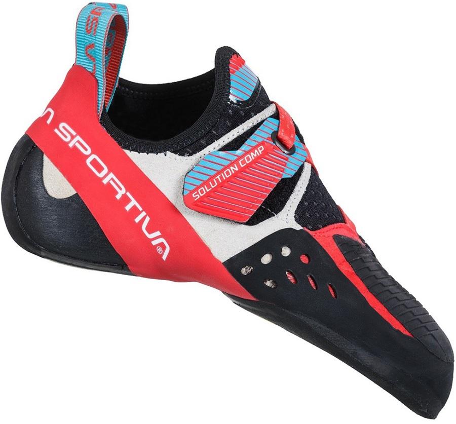 La Sportiva Adult Unisex Women's Solution Comp Rock Climbing Shoe, Uk 5.5 | Eu 38.5 Hibiscuc/Malibu Blue