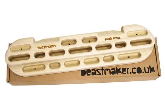 Beastmaker 1000 Series Wooden Training Board/Hangboard 58cm Brown