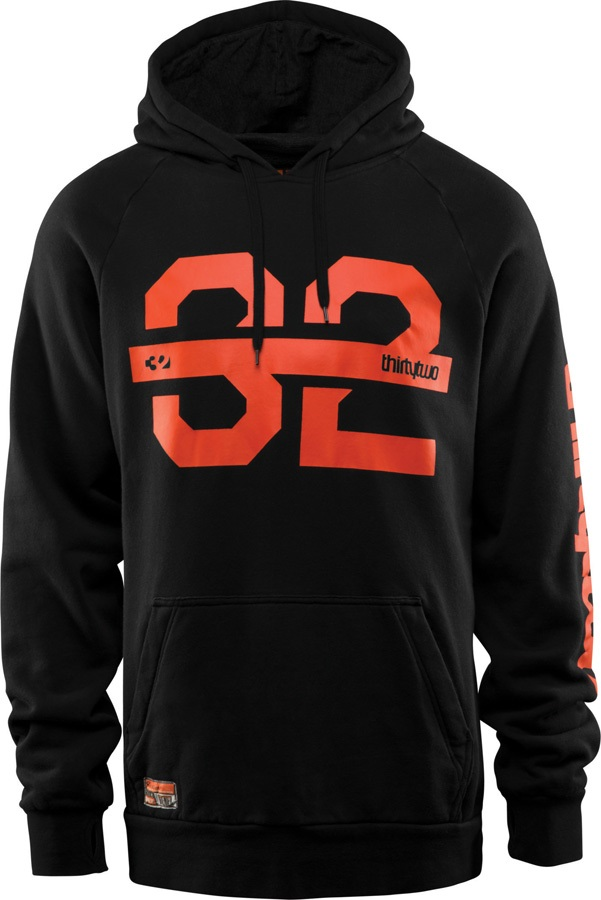 thirtytwo Marquee Pullover Technical Ski/Snowboard Hoodie, M Black