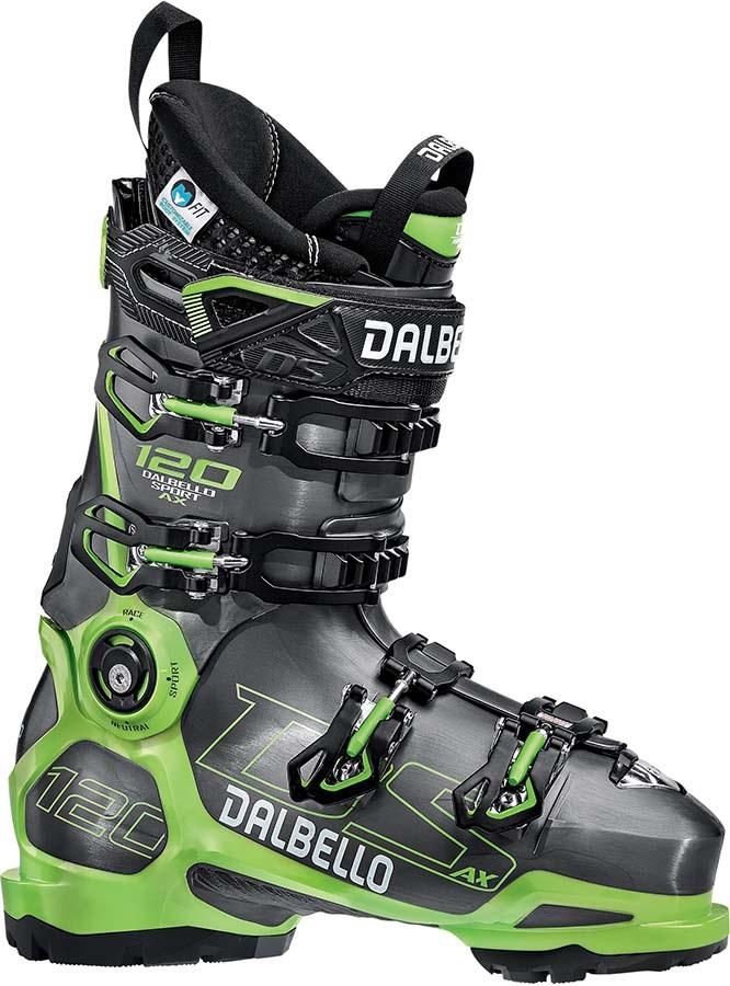 Dalbello DS AX 120 Ski Boots, 26.5 Anthracite/Green 2020