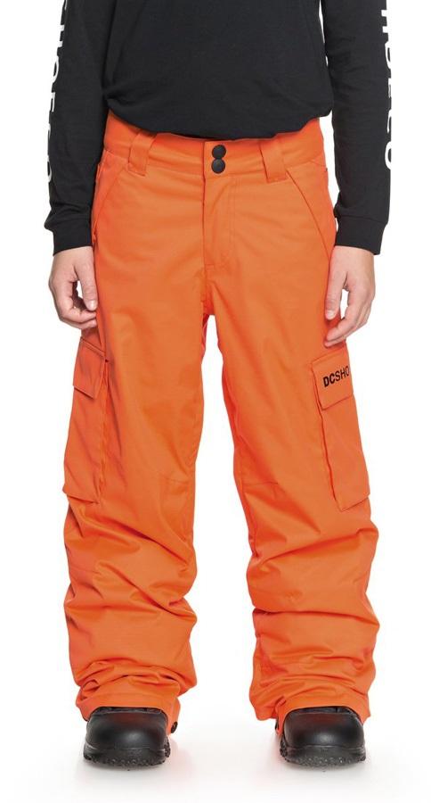 DC Boys Banshee Youth Kid's Ski/Snowboard Pants, Age 12 Orange