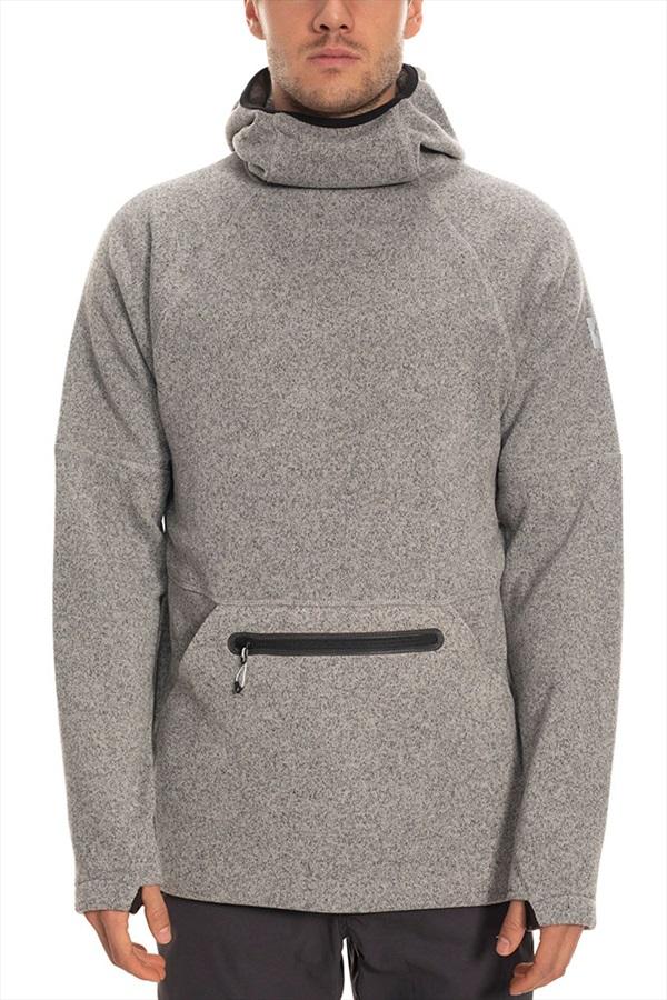 686 Knit Tech Fleece Hoody, L Light Grey Heather
