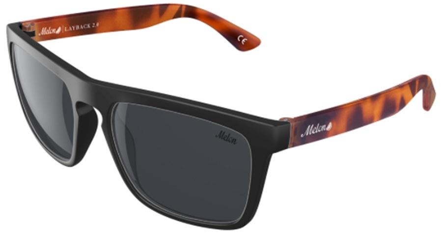 Melon Layback 2.0 Smoke Polarized Sunglasses, Matte Sable