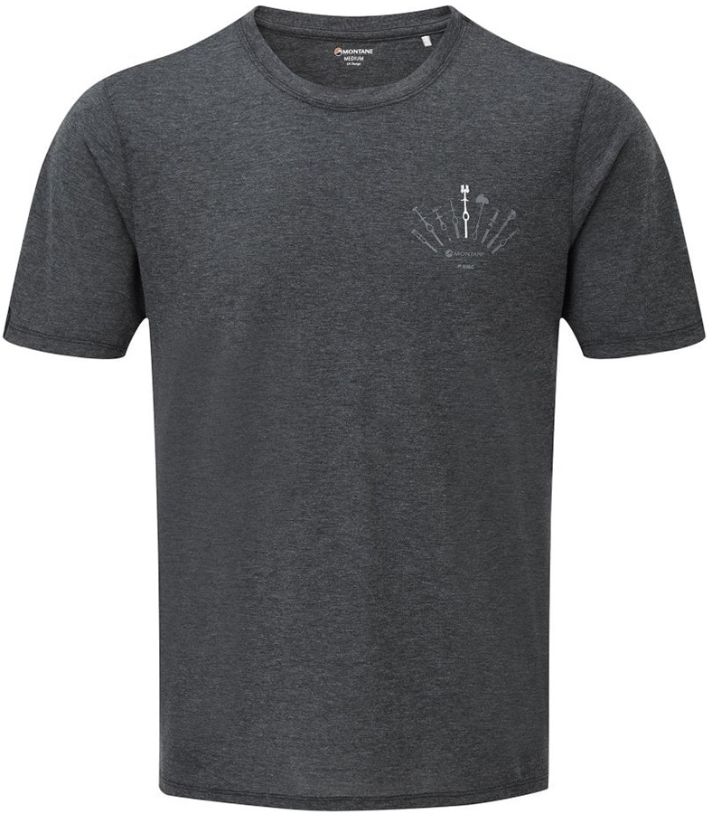 Montane Adult Unisex X Bmc Trad Short Sleeve Climbing T-Shirt, Xl Charcoal