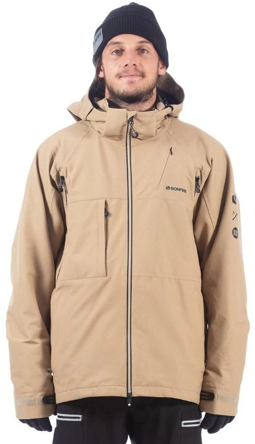 Bonfire Aspect Stretch 2L Ski/Snowboard Jacket, XL Desert