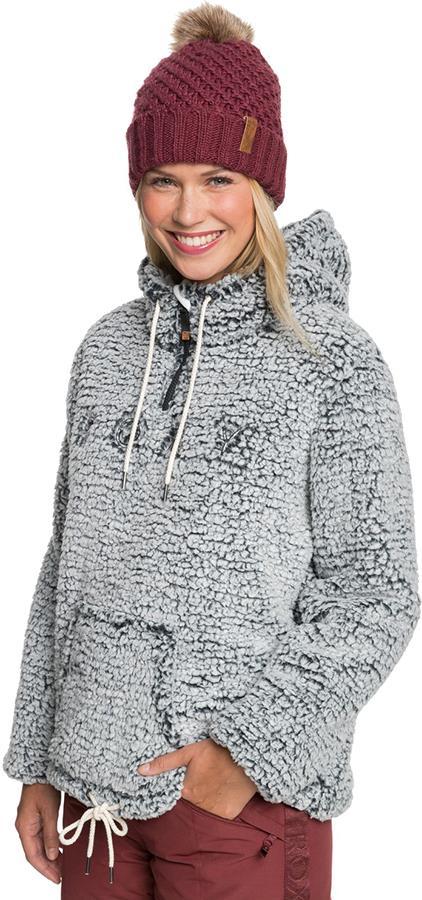 Roxy Pluma Sherpa Women's Snowboard/Ski Fleece, L True Black