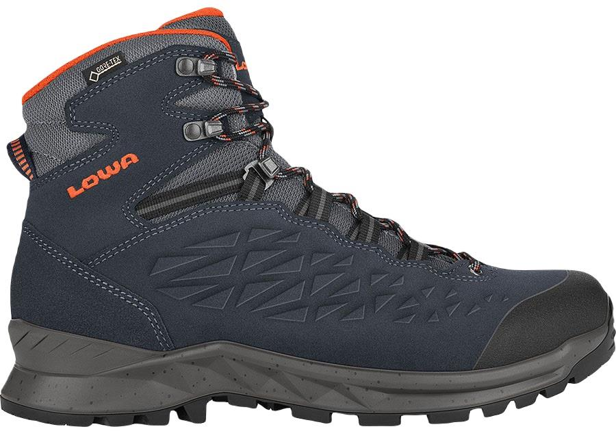 Lowa Explorer Mid Gore-Tex Hiking Boots, UK 9 Navy/Orange