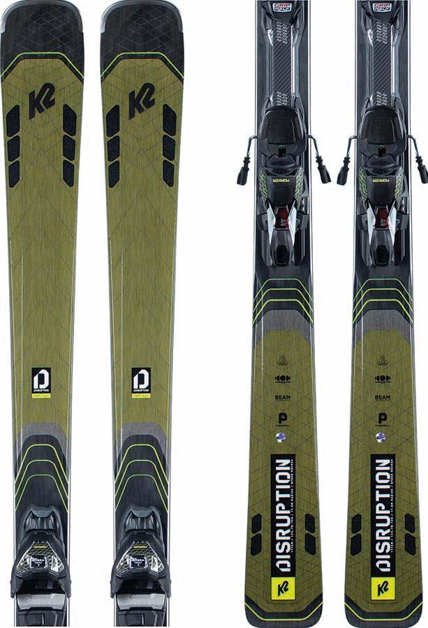 K2 Disruption 78 Ti Marker MXC 12TCX LIGHT Q Skis, 170cm Green 2022