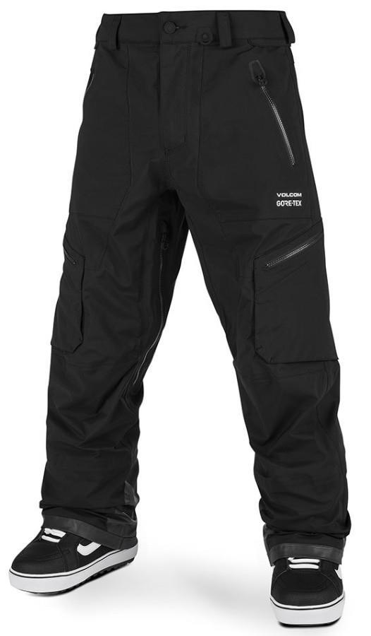 Volcom Adult Unisex Guch Stretch Gore-Tex Ski/Snowboard Pants, M Black