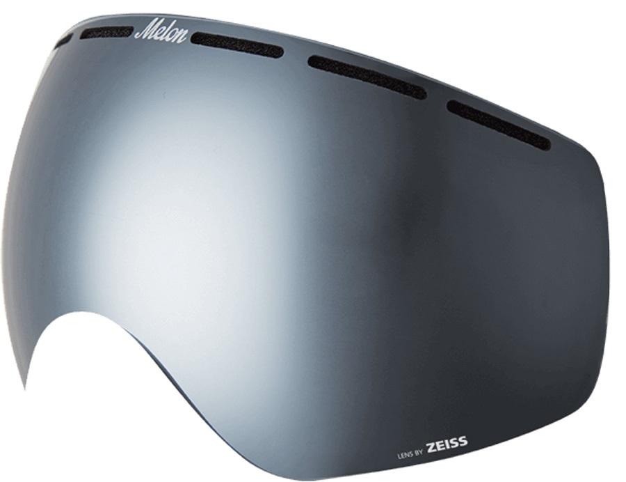 Melon Chief Ski/Snowboard Goggle Lens, One Size Silver Chrome Sonar
