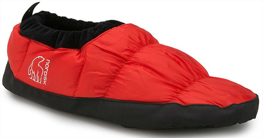 Nordisk  Mos Down Shoes  Insulated Camping Slippers, UK 6-8 Red