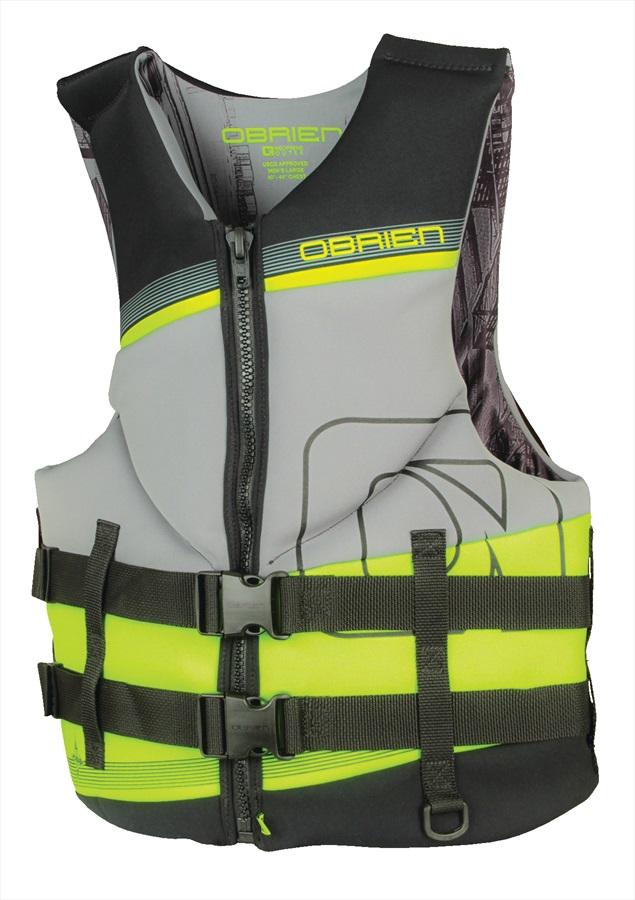 O'Brien Neoprene Tech CE Watersports Vest, M Grey Green