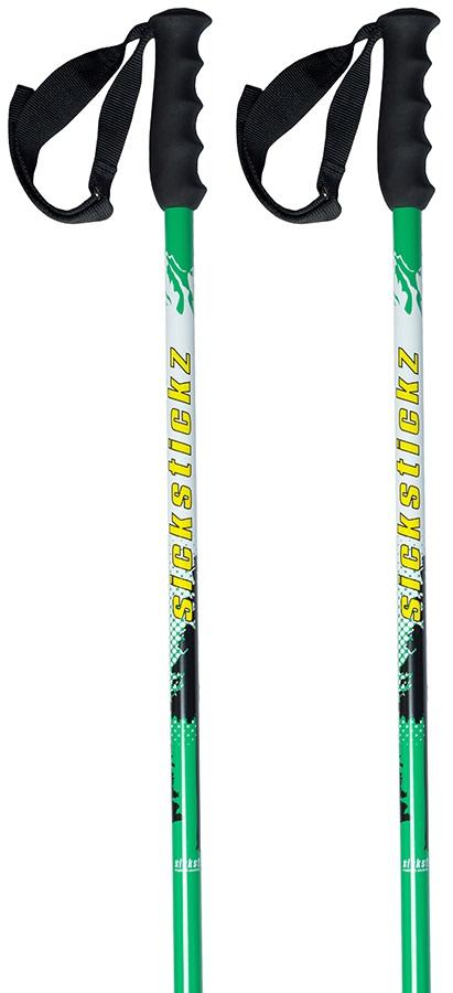 Sickstickz Powder Plunger Pair Of Ski Poles, 105cm, White/Green