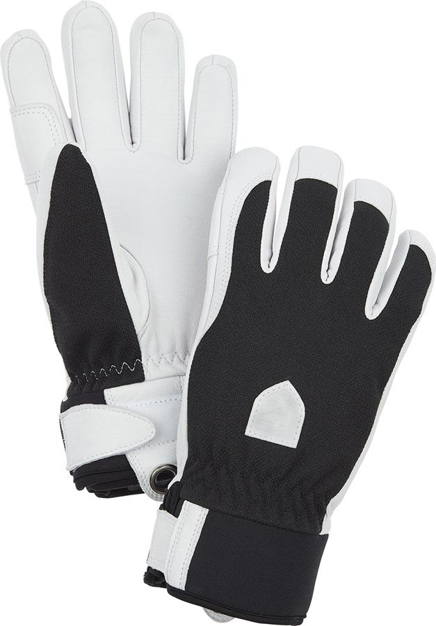 Hestra Army Leather Patrol Women's Ski/Snowboard Gloves, S Black