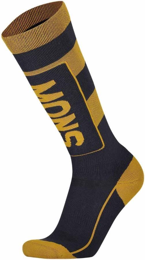 Mons Royale Mons Tech Cushion Men's Ski/Snowboard Socks L Iron/Gold