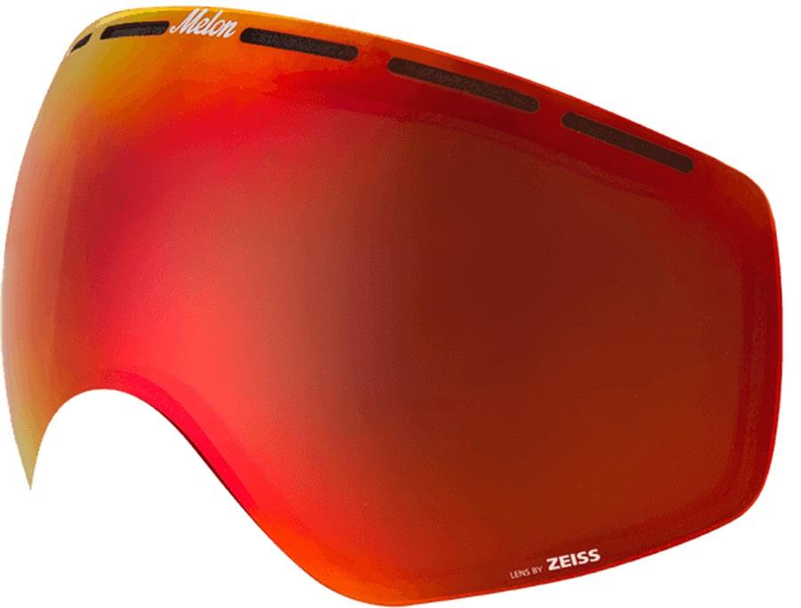 Melon Chief Ski/Snowboard Goggle Lens, One Size Red Chrome Sonar