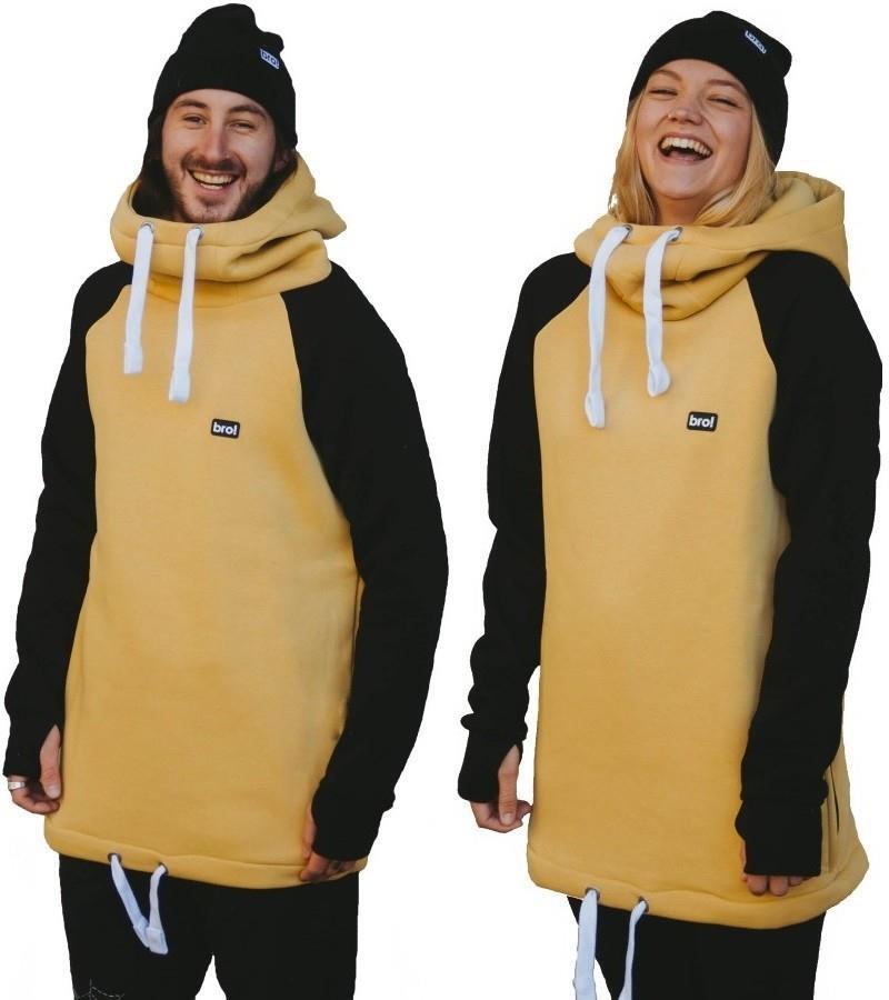 bro! Chill N'shred Unisex Ski/Snowboard Hoodie, XXXL Caramel/Black