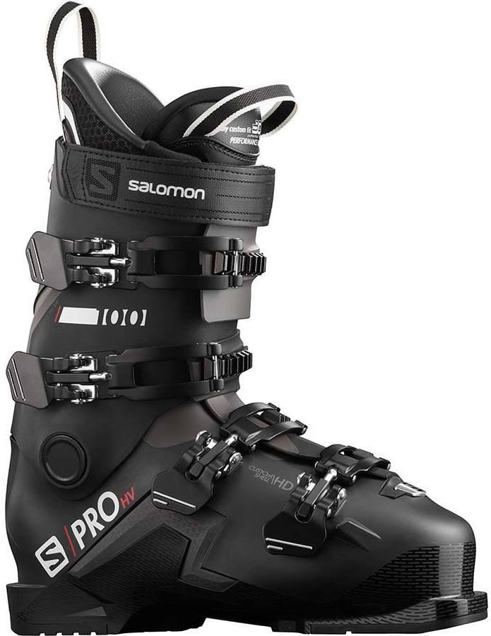 Salomon S/PRO HV 100 Ski Boots, 26/26.5 Black/Belluga/Red 2021