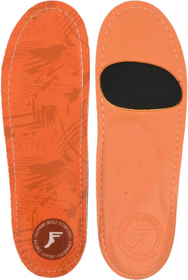 Footprint Kingfoam Orthotic Insoles, UK 9-9.5 Orange Camo